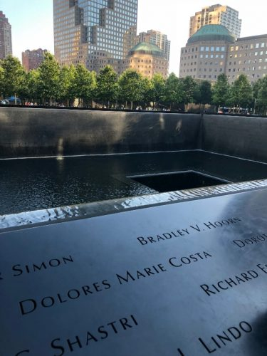 Visiting the 9/11 Memorial, Dolores Marie Costa, a poem by Greg Powell